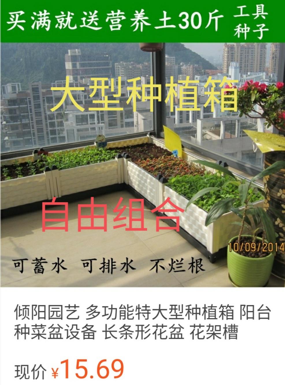 阳台种菜种植箱